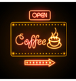 Neon sign coffee vector