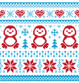 Christmas knitted pattern scandynavian sweater vector