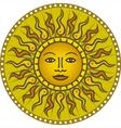 Vintage sun 01 vector