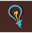 Creative bulb draw vector