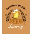 Premium quality beer - brewery label vector