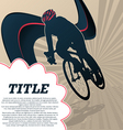 Sport template poster cycling vector