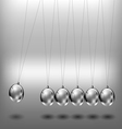 Newtons cradle metal balls vector