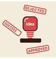 Approved rejected success stamp vector