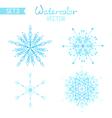 Set os watercolour snowflakes vector