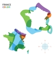 Abstract color map of france vector