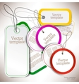 Set of bubbles stickers labels tags template vector