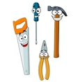 Happy and joyful work tools vector