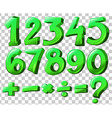 Numbers in green color vector