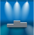 Pedestal in the blue room vector