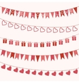 Garlands for valentines day or wedding vector