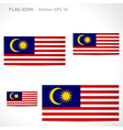 Malaysia flag template vector