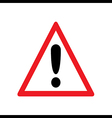 Red exclamation sign - danger triangle road sign i vector