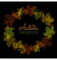 Bright autumn frame on black background vector