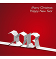 New year 2013 card made from paper stripe vector