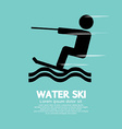 Water ski sport sign vector
