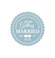 Classic wedding vintage badge vector