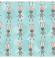 Seamless pattern with funny cute rabbit animal on vector