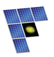 Solar panel with battery vector