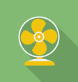 Fan or ventilator icon modern flat style with a vector