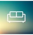 Furniture sofa thin line icon vector