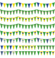 Brazil party bunting vector