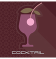 Cocktail glass with background vector