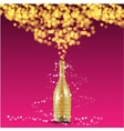 Christmas bottle and decorations background vector