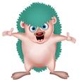 Happy hedgehog cartoon vector