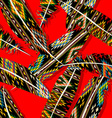Ikat feather pattern 8 vector