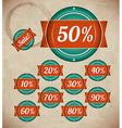 Set of retro sale labels vector
