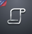 Paper scroll icon symbol 3d style trendy modern vector