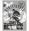 Street level biker 3 vector