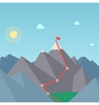 Mountaineering route goal achievement concept vector