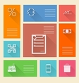 Flat square icons for web payment vector