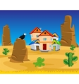 Village on dick west vector