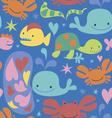 Sea cartoons seamless pattern vector