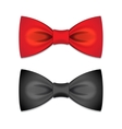 Set of bow ties vector