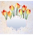 Vintage postcard with a beautiful tulips eps 10 vector