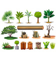 Trees and stumps vector