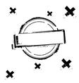 Black rubber stamp on white vector