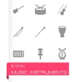 Music instruments icon set vector