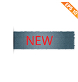 Realistic denim label and sale tag - vector