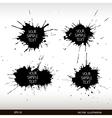 Set of grunge splashes grunge background vector