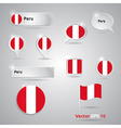 Peru icon set of flags vector