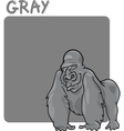 Color gray and gorilla cartoon vector