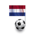 Soccer balls or footballs with flag of netherlands vector