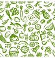 Healthy food seamless pattern sketch for your vector