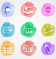 Creative colored icons for trade online vector