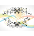 Colorful abstract floral frame vector